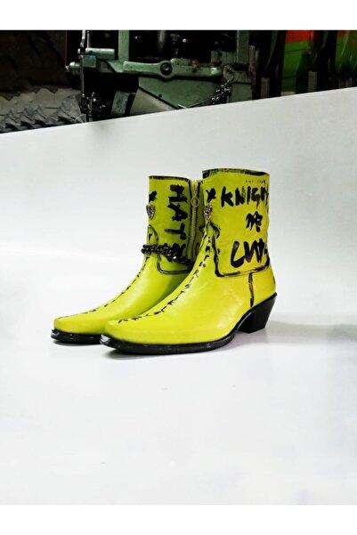 Futuristiklover Unisex Lime Yeşili Kovboy Bot