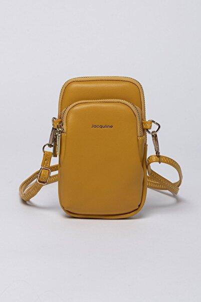 Jacquline Kadın Sarı Mini Çapraz Çanta Ve Cüzdan