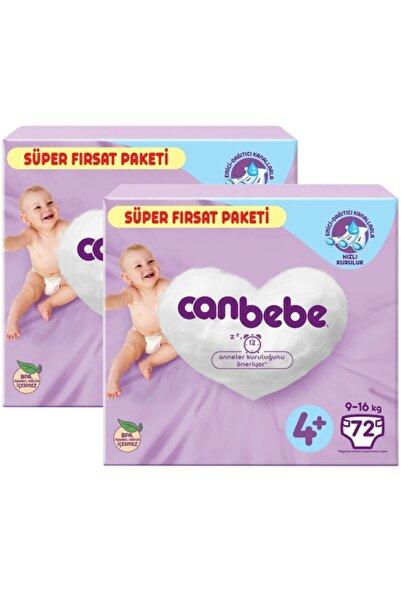 Canbebe Bebek Bezi 4+ Beden Süper Fırsat Paketi 72*2=144 Adet
