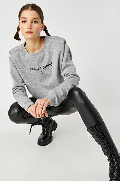 Koton Kadın Gri Sweatshirt 1KAL68315IK