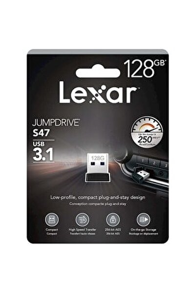 128 Gb Jumpdrive S47 Usb 3.1 Flash Bellek Ljds47-128gabbk
