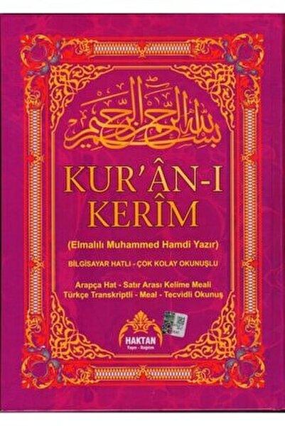 Kuranı Kerim Satır Arası Türkçe Okunuş Ve Meal, Beşli Kuran, 20x28 Cm. Rahle Boy, Haktan