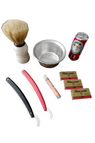 Tıraş Sabunu 9 Parça 2 Adet Ustura Kan Taşı Ve 15 Adet Perma Sharp Jilet