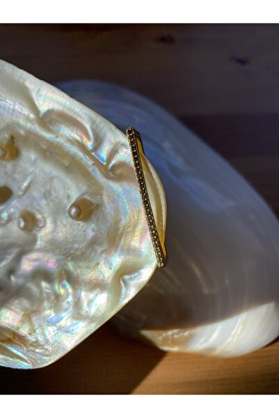 Ricco Vanni Yağ Yeşili Zirkon Taşlı Tasarım Kıkırdak Küpe