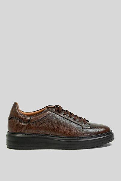Lufian Erkek Kahverengi Deri Sneaker