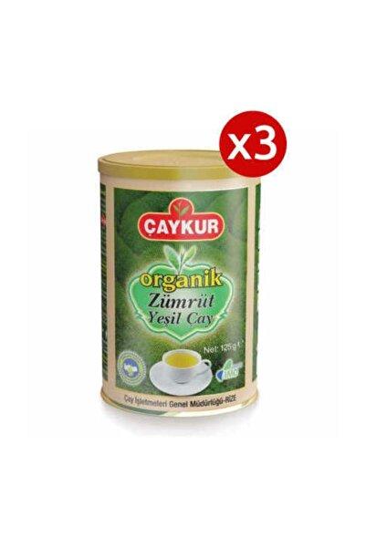 Çaykur 3 Adet Organik Zümrüt Yeşil Çay 125gr