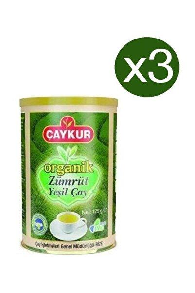 Çaykur Organik Zümrüt Yeşil Çay 125 gr X 3 Adet