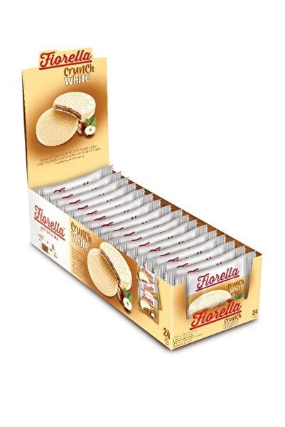 FIORELLA Crunch Beyaz Çikolatalı Gofret 20 gr  24'lü (1 Paket)