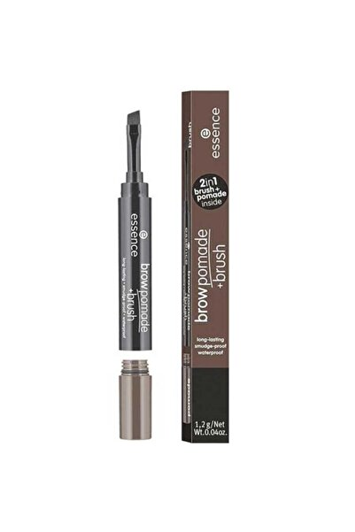 Essence Brow Pomade & Brush - Kaş Pomadı No: 04 Dark Brown 4059729271181