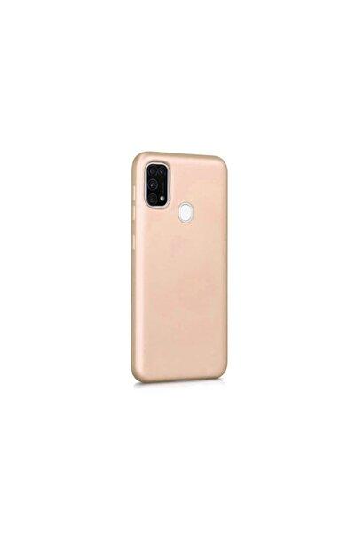 Samsung Teleplus Galaxy M21 Kılıf Lüks Mat Silikon Gold