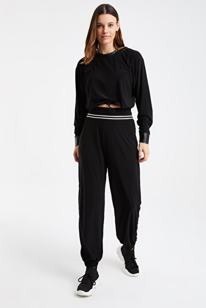 Laranor Belde Şerit Detay Cepli Paçası Lastikli Pantolon