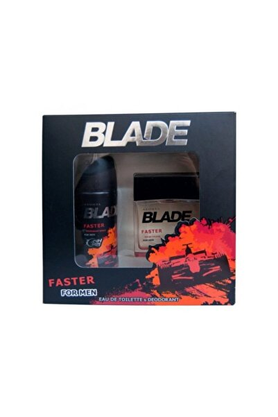 Blade Faster Edt 100 ml Erkek Parfüm + 150 ml Deodorant Seti 8690586015639