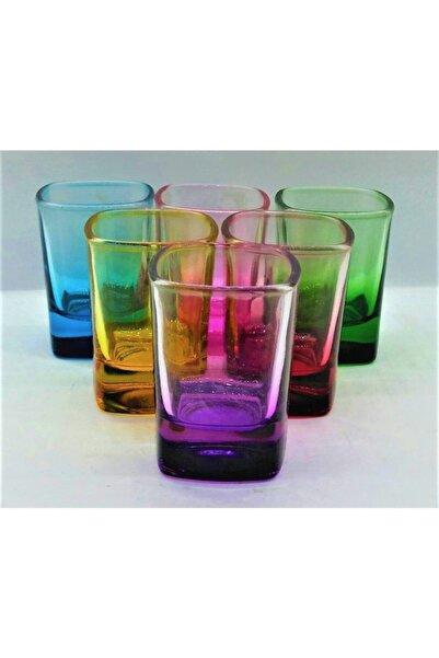 Sigma Renkli Koleksiyon Kave Yanı Su Bardağı 6lı