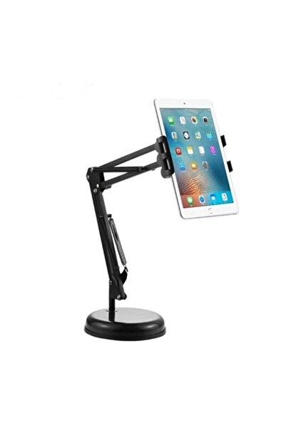 zore Ipad - Tablet - Telefon Tutucu Masa Üstü Teleskopik Metal Tablet Tutucu 360 Derece
