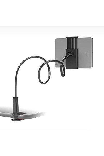 zore Ipad - Tablet - Telefon Tutucu Masa Üstü Teleskopik Spiral Silikon Tablet Tutucu 360 Derece