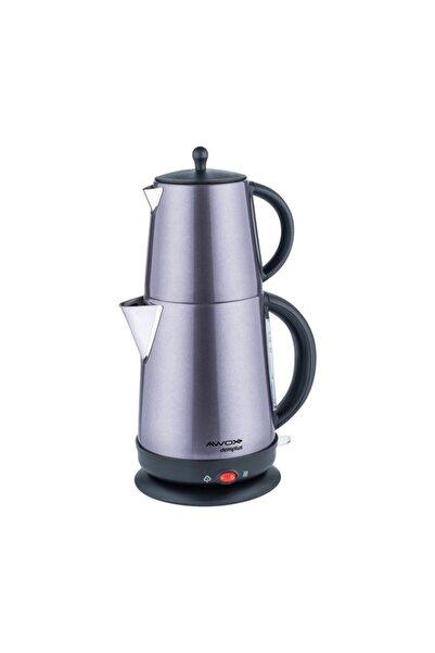AWOX Demplus Füme Renk Elektrikli Çelik Çay Makinesi