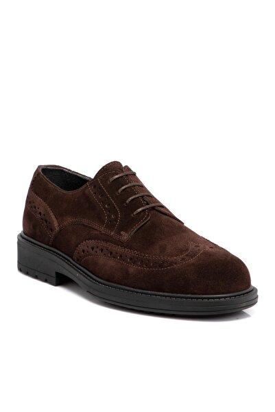 Tergan Kahverengi Süet Deri Erkek Ayakkabı 55014b85