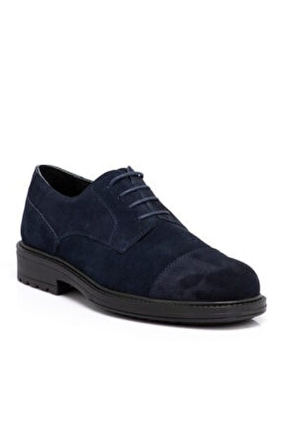Lacivert Süet Deri Erkek Ayakkabı 55016d44
