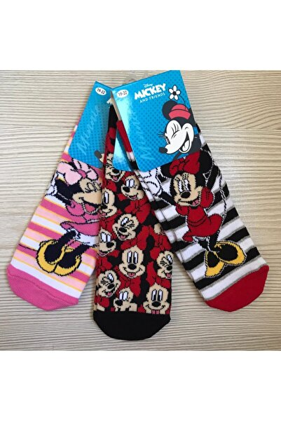 Disney Mickey Mouse Kız  Çocuk Disney Mickey Çorap 3 Lü