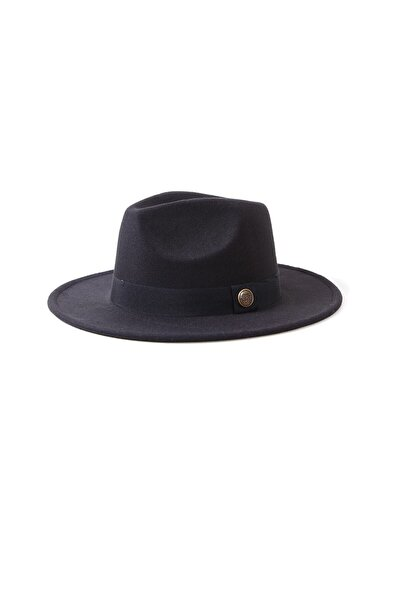 huma butik Siyah Fötr Şapka