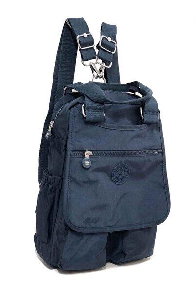 SMART BAGS Smart Bag Kumaş Bayan Sırt Ve El Çantası Lacivert 1174