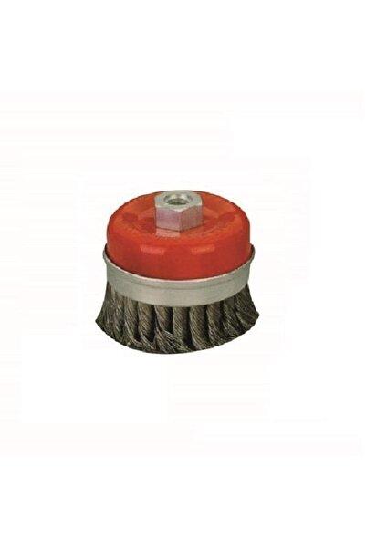 LEO Çanak Tel Fırça Burgulu, Çelik Kuşaklı 80mm