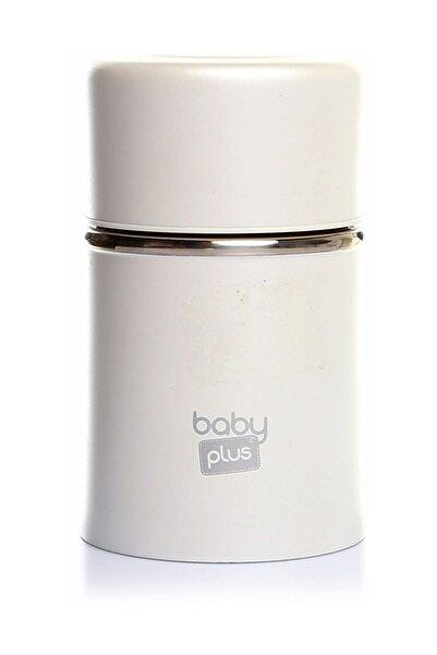 Baby&Plus Beyaz Paslanmaz Çelik Bebek Mama Saklama Termosu 260 ml