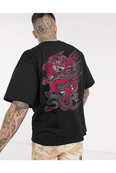 Ghedto Unisex Siyah Chinesebox Oversize Tshirt
