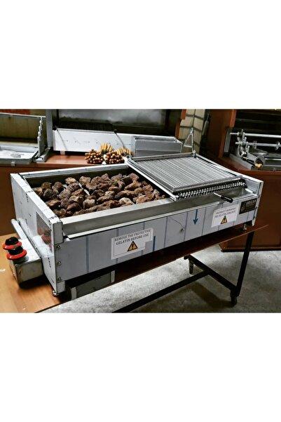 Arıcan Doğalgazlı Lav Taşlı Izgara Mangal Lava Taşlı Endüstriyel Grill -70 Cm-