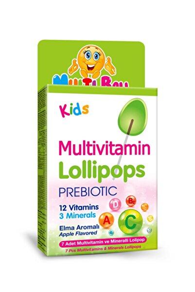 Multiball Kids Multivitamin Lollipop + Prebıotıc
