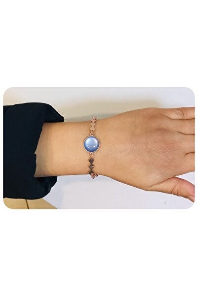 Mima Mavi Bronz Renk Bileklik