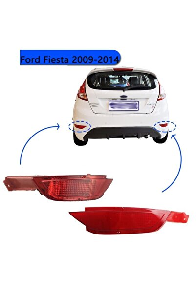 otobalcı Ford Fiesta Arka Tampon Reflektörü Sis Farı Sağ+sol Takım 2008--2014
