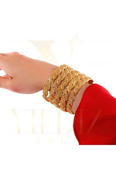 Yıldız Gold İmitasyon 22 Ayar Altın Kaplama 1.5 Cm Sarılı Model Bilezik