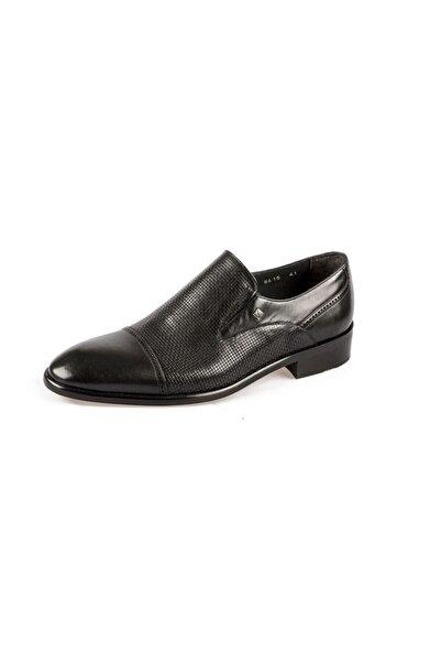 Fosco Erkek Siyah Klasik Neolit Taban Hakiki Deri Ayakkabı
