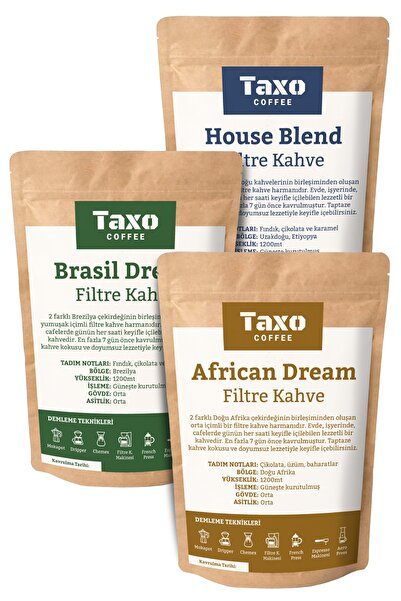 Taxo Coffee Filtre Kahve 3x200gr Blend Set