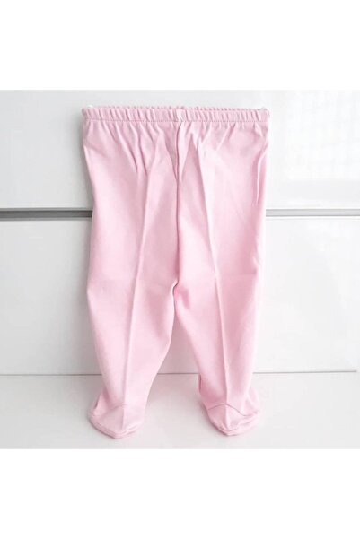 bebegen Kız Bebek Patikli Pembe Tek Alt Penye Pantolon