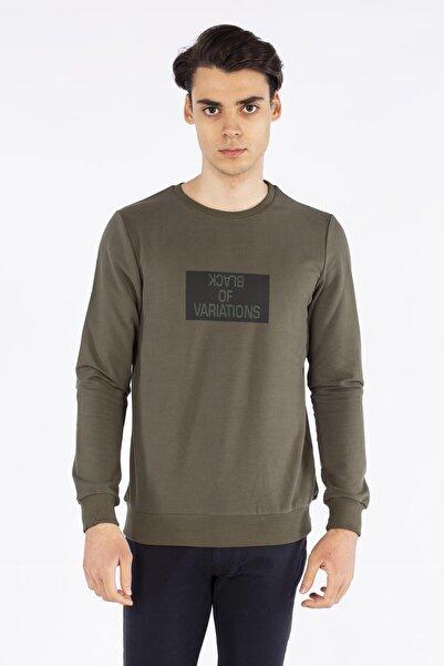 BARRELS AND OIL Black Of Baskılı Sweatshirt-haki
