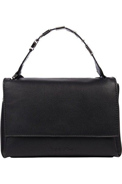 Calvin Klein Kadın Siyah Flap Shoulder Bag Md Omuz Çantası
