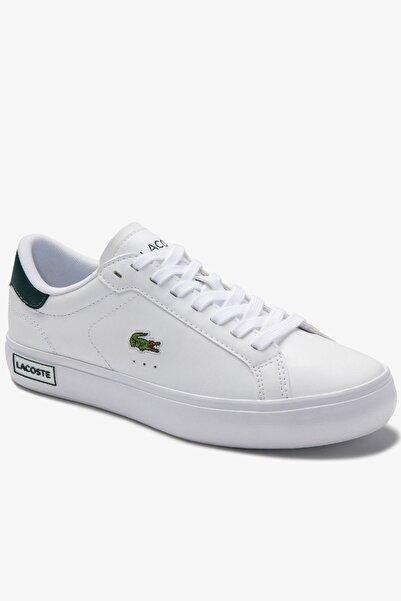Lacoste Powercourt 0520 1 Sfa Kadın Beyaz - Koyu Yeşil Sneaker 740SFA0035