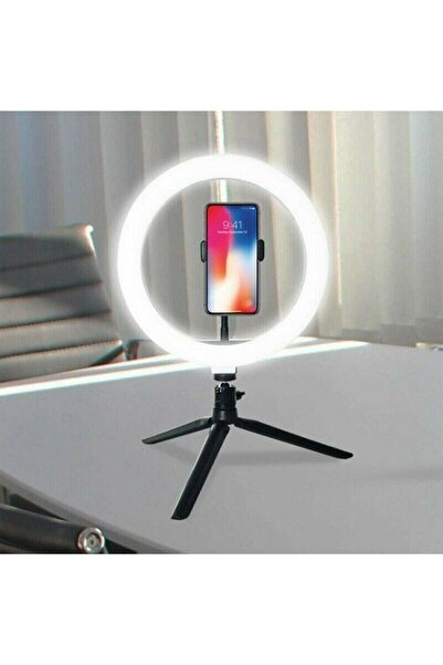 AKIN PAZAR 8inç 20cm Youtube Instagram Tiktok Selfie Stüdyo Video Fotoğraf Ring Light Tripod Led Halka Işık