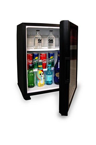 ISM Siyah Cam Kapılı Minibar Mini Buzdolabı Otel Tipi Sm-40g