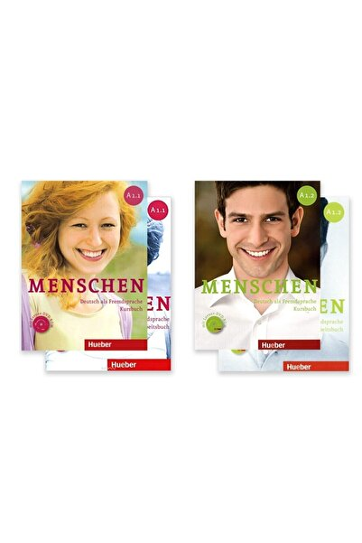 Hueber Yayınları Menschen A1.1 + A1.2 Kursbuch, Arbeitsbuch + Dvd-rom + Ar Teknolojisi Ile Kolay Öğrenme