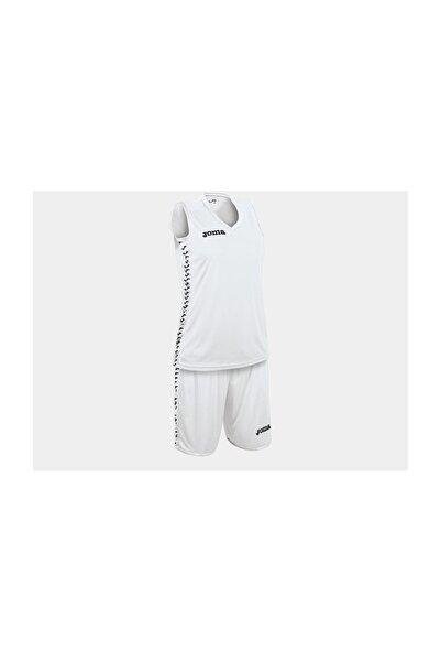 Joma Kadın Basketbol Forma & Şort Takımı Beyaz Pivot Set 1227W005