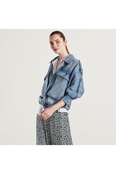 Mudo Cep Detaylı Jean Ceket