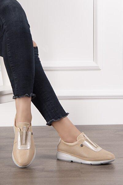 Pierre Cardin Kadın Krem Günlük Ayakkabı Pc50855