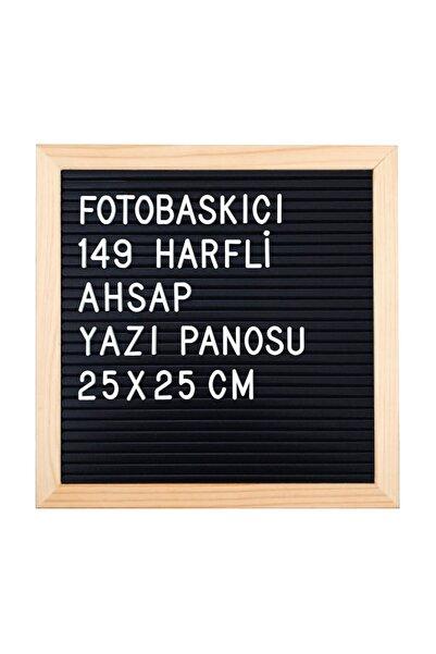 FOTOBASKICI 149 Harfli Ahşap Yazı Panosu 25x25 Cm