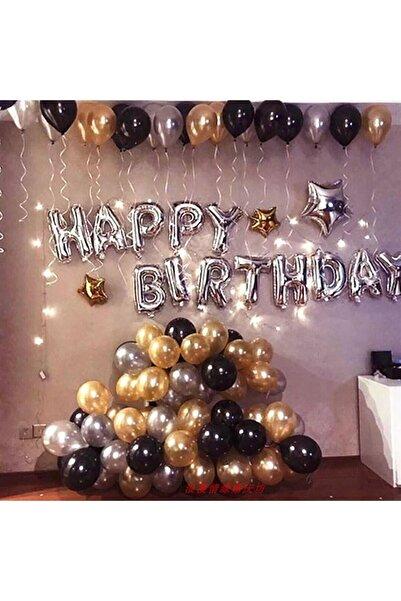 Parti dolabı Gold-Gümüş Konsepti Doğum Günü Partisi Süsleme Malzeme Seti