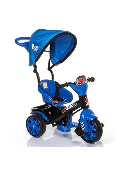 BabyHope Mavi Bobo Speed Tenteli Üçtekerli Kontrollü Bisiklet 121