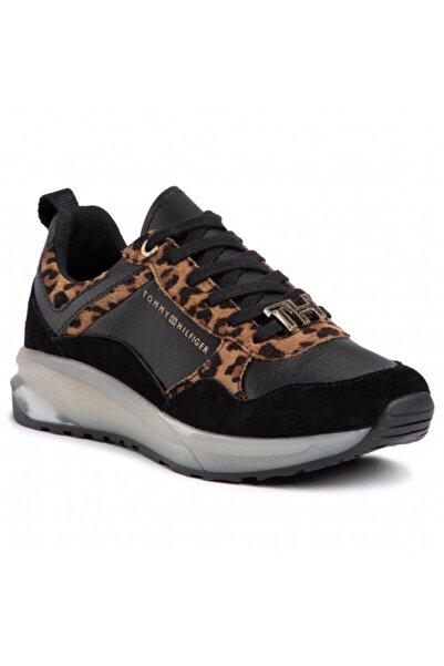 Tommy Hilfiger Kadın Kahverengi Leopar Sneaker