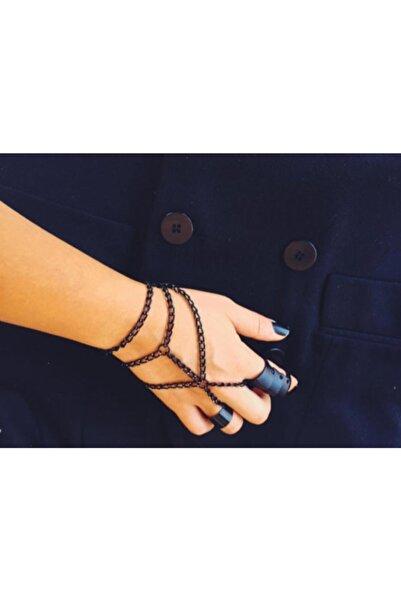 pop up store Kadın Siyah Zincir El Akseuarı